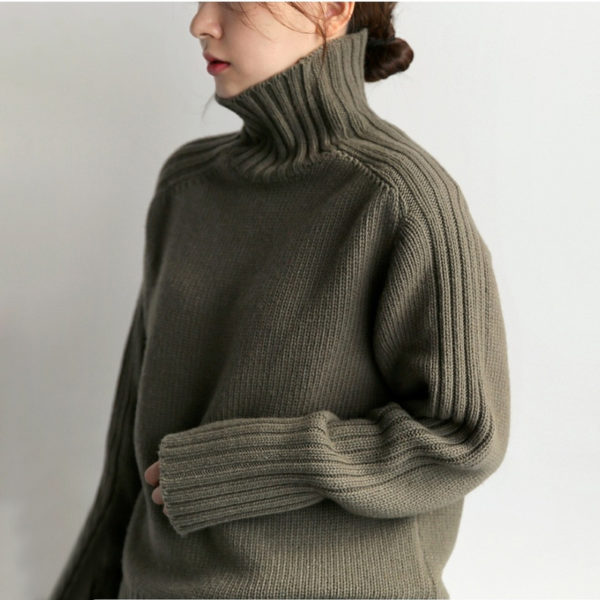 CHICEVER-Korean-Knitted-Women-s-Sweater-Turtleneck-Lantern-Sleeve-Loose-Oversize-Casual-Sweaters-Female-2019-Autumn-4.jpg