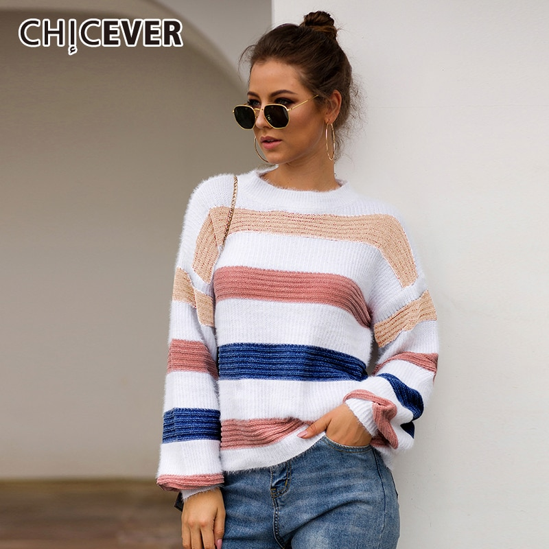 Women Casual Slim Crop Top Long Lantern Sleeve V Neck T Shirt Top Blouse Sweater