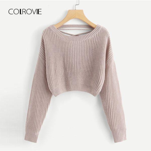 COLROVIE-Pink-Korean-Criss-Cross-V-Back-Winter-Crop-Knitted-Sweater-Women-Clothes-2018-Autumn-Pullover-1.jpg