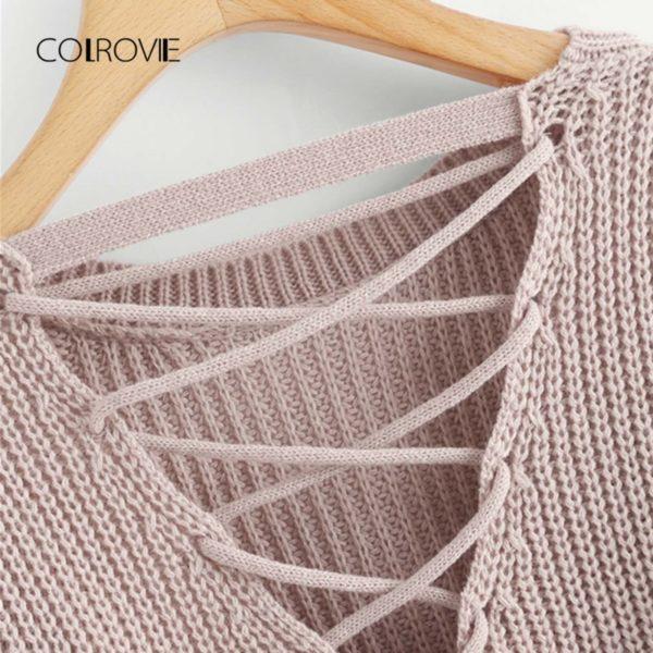 COLROVIE-Pink-Korean-Criss-Cross-V-Back-Winter-Crop-Knitted-Sweater-Women-Clothes-2018-Autumn-Pullover-2.jpg