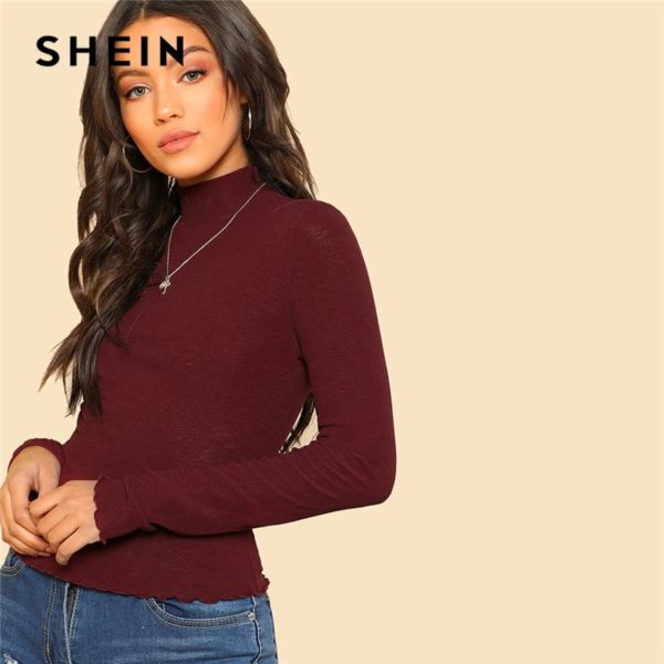 SHEIN-Basic-Office-Lady-Solid-Mock-Neck-Lettuce-Trim-Long-Sleeve-Skinny-Pullovers-Tee-Autumn-Casual-3.jpg