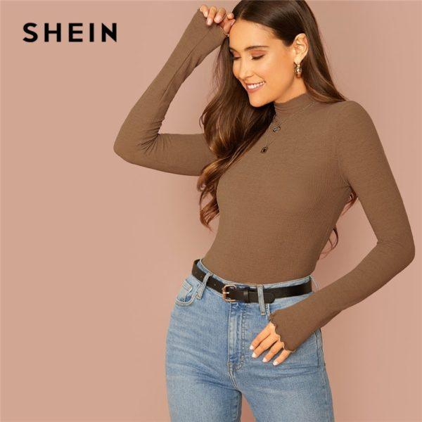 SHEIN-Basic-Office-Lady-Solid-Mock-Neck-Lettuce-Trim-Long-Sleeve-Skinny-Pullovers-Tee-Autumn-Casual-4.jpg