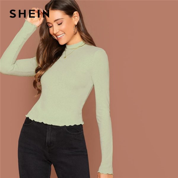 SHEIN-Basic-Office-Lady-Solid-Mock-Neck-Lettuce-Trim-Long-Sleeve-Skinny-Pullovers-Tee-Autumn-Casual-5.jpg