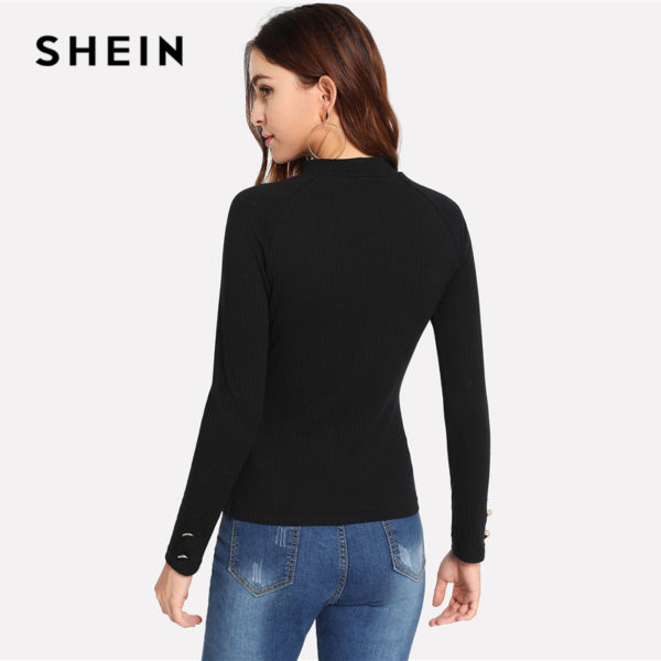 SHEIN-Black-Modern-Lady-Weekend-Casual-Ribbed-Knit-Button-Mock-Neck-Stand-Collar-Slim-Fit-Tee-1.jpg