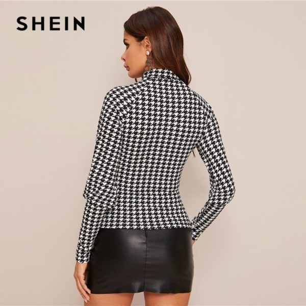 SHEIN-Black-and-White-Button-Detail-Houndstooth-Print-Gigot-Sleeve-Top-Women-Spring-Stand-Collar-Slim-2.jpg