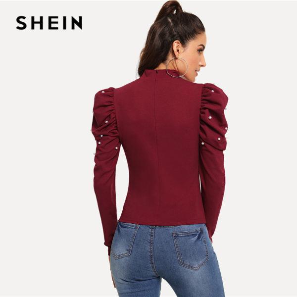 SHEIN-Burgundy-Office-Lady-Ruffle-Pearls-Beaded-Mock-Neck-Puff-Sleeve-Blouse-Autumn-Elegant-Workwear-Women-1.jpg