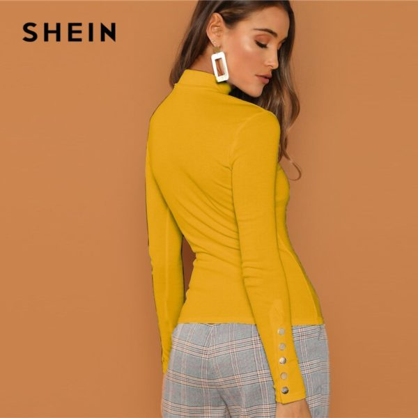 SHEIN-Ginger-Buttoned-Cuff-Slim-Fit-High-Neck-T-shirt-Casual-Skinny-Long-Sleeve-Solid-Tee-2.jpg