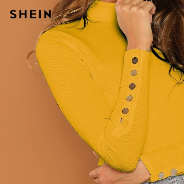 SHEIN-Ginger-Buttoned-Cuff-Slim-Fit-High-Neck-T-shirt-Casual-Skinny-Long-Sleeve-Solid-Tee-4.jpg