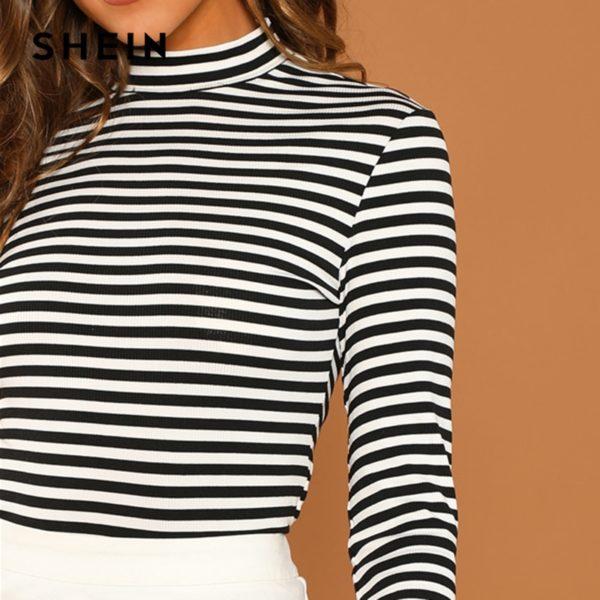 SHEIN-Modern-Lady-Black-and-White-Slim-Fit-Mock-Neck-High-Neck-Striped-Rib-Knit-T-4.jpg