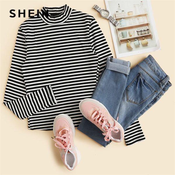 SHEIN-Modern-Lady-Black-and-White-Slim-Fit-Mock-Neck-High-Neck-Striped-Rib-Knit-T-5.jpg