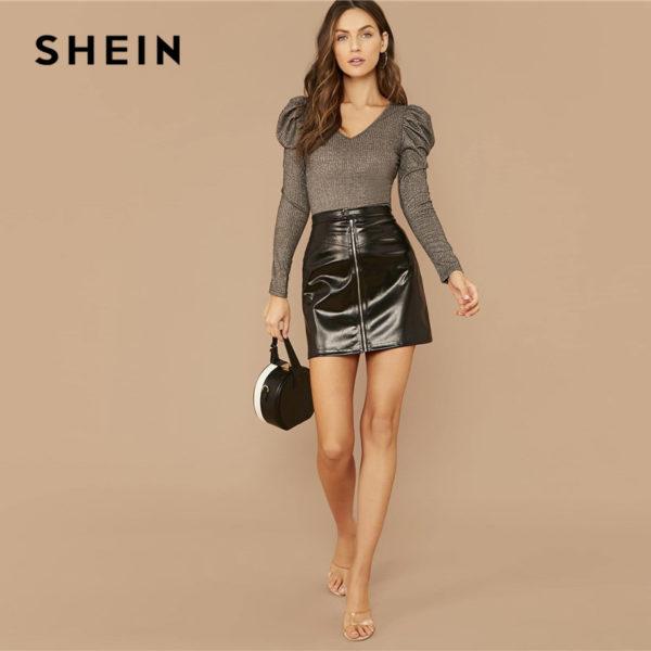 SHEIN-Silver-V-neck-Gigot-Sleeve-Glitter-Tee-Women-Spring-Tshirt-Puff-Shoulder-Rib-Knitted-Glamorous-2.jpg