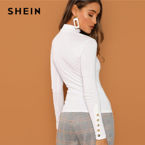 SHEIN-White-Office-Lady-Buttoned-Cuff-Solid-High-Neck-Slim-Fit-Skinny-Long-Sleeve-Tee-2018-2.jpg