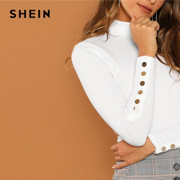 SHEIN-White-Office-Lady-Buttoned-Cuff-Solid-High-Neck-Slim-Fit-Skinny-Long-Sleeve-Tee-2018-4.jpg