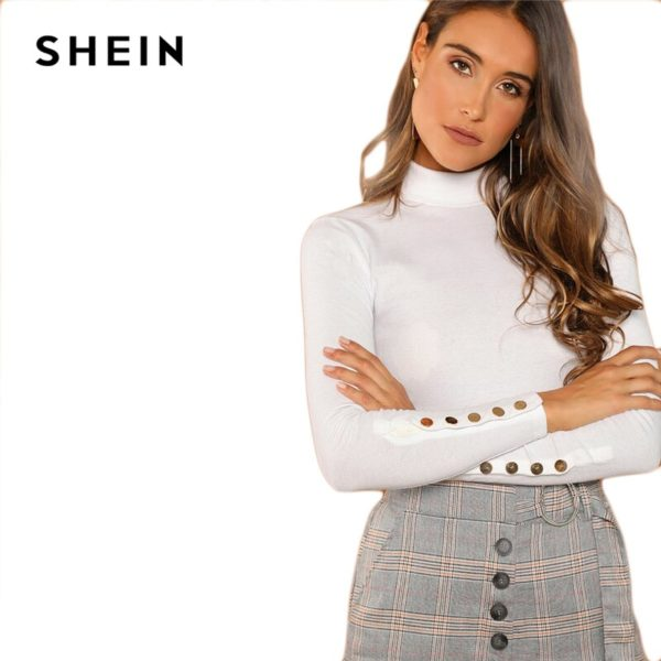 SHEIN-White-Office-Lady-Buttoned-Cuff-Solid-High-Neck-Slim-Fit-Skinny-Long-Sleeve-Tee-2018-5.jpg