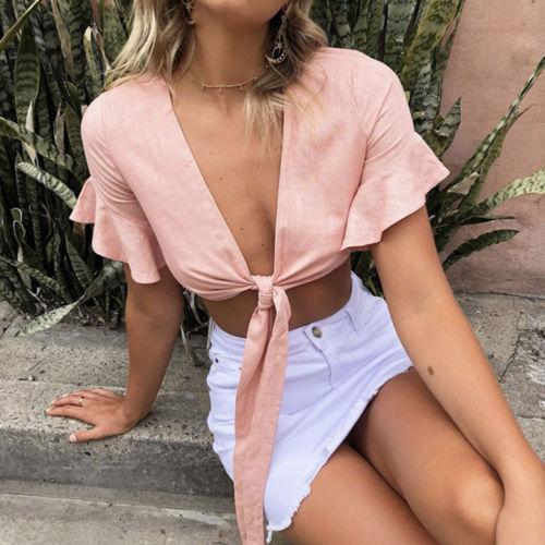 2020-Summer-Women-Boho-Short-Blouse-Shirts-Ruffles-Short-Sleeve-V-Neck-Bandage-Crop-Tops-Female-2.jpg