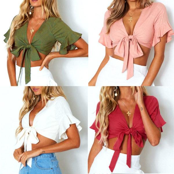2020-Summer-Women-Boho-Short-Blouse-Shirts-Ruffles-Short-Sleeve-V-Neck-Bandage-Crop-Tops-Female-3.jpg
