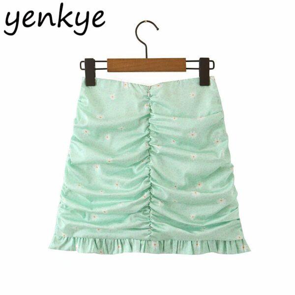 Green-Leopard-Floral-Print-Skirt-Women-High-Waist-A-line-Mini-Draped-Skirt-jupe-femme-Summer-1.jpg