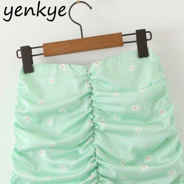 Green-Leopard-Floral-Print-Skirt-Women-High-Waist-A-line-Mini-Draped-Skirt-jupe-femme-Summer-2.jpg