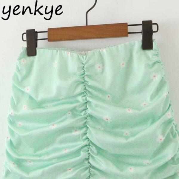 Green-Leopard-Floral-Print-Skirt-Women-High-Waist-A-line-Mini-Draped-Skirt-jupe-femme-Summer-3.jpg