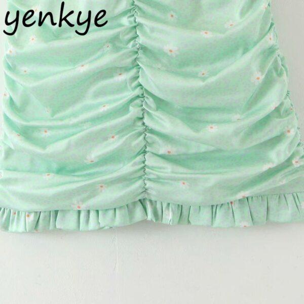 Green-Leopard-Floral-Print-Skirt-Women-High-Waist-A-line-Mini-Draped-Skirt-jupe-femme-Summer-4.jpg