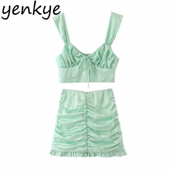 Green-Leopard-Floral-Print-Skirt-Women-High-Waist-A-line-Mini-Draped-Skirt-jupe-femme-Summer-5.jpg