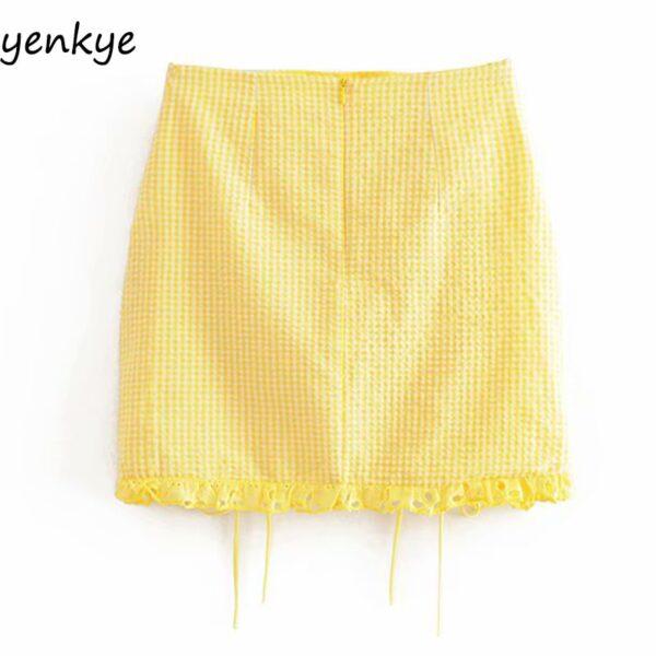 Summer-Skirts-Womens-Yellow-Plaid-Drawstring-Draped-High-Waist-Mini-Skirt-Sexy-LDZZ6105-1.jpg