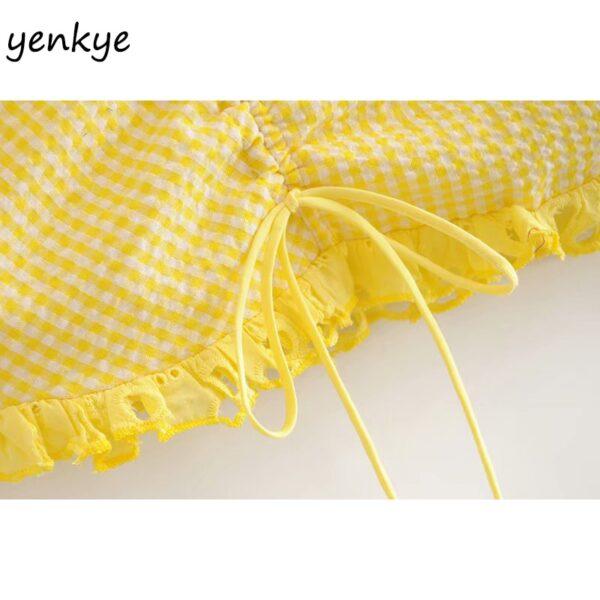 Summer-Skirts-Womens-Yellow-Plaid-Drawstring-Draped-High-Waist-Mini-Skirt-Sexy-LDZZ6105-4.jpg