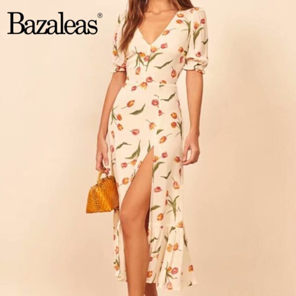 Bazaleas-Vintage-tulip-Print-Cream-vestidos-France-Split-Midi-Dress-Fashion-V-Neck-Dresses-Summer-women-1.jpg