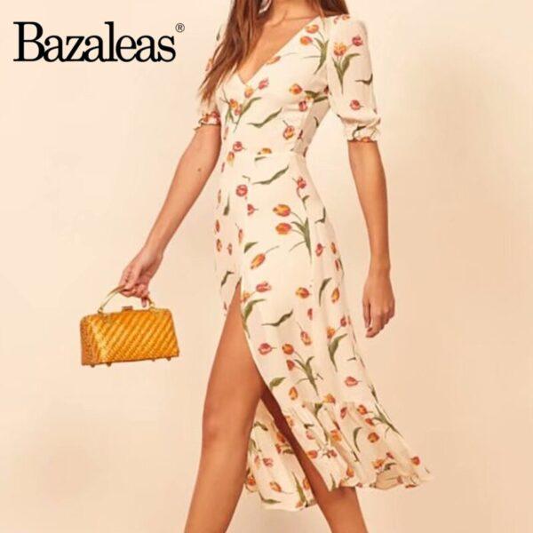 Bazaleas-Vintage-tulip-Print-Cream-vestidos-France-Split-Midi-Dress-Fashion-V-Neck-Dresses-Summer-women-2.jpg
