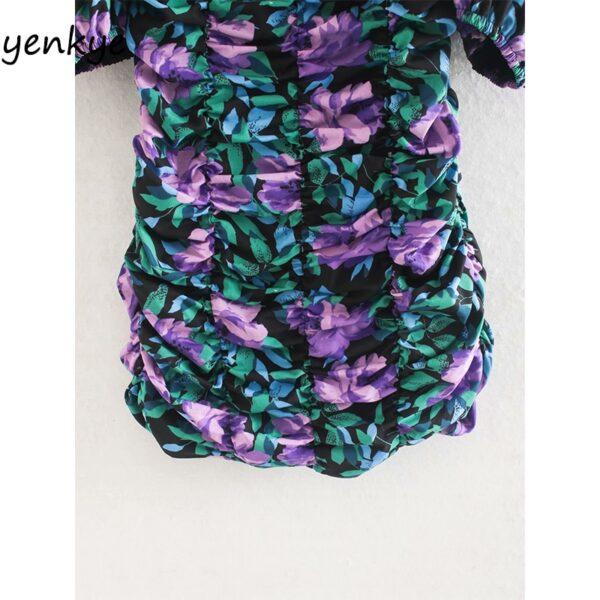Fashion-Women-Elastic-Draped-Bodycon-Mini-Dress-Sexy-Lady-Square-Neck-Puff-Sleeve-Floral-Print-Summer-4.jpg