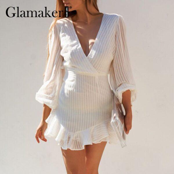 Glamaker-Sexy-backless-white-mini-dress-Summer-transparent-ruffle-A-line-dress-Holiday-beach-lace-up-1.jpg