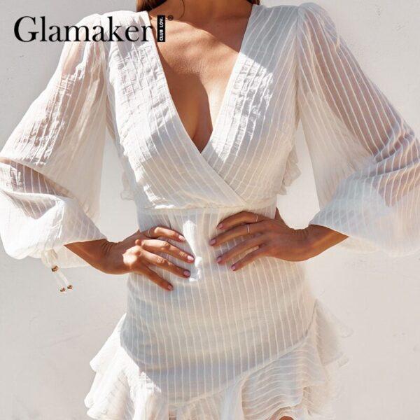 Glamaker-Sexy-backless-white-mini-dress-Summer-transparent-ruffle-A-line-dress-Holiday-beach-lace-up-2.jpg