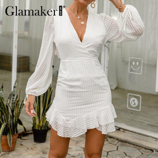 Glamaker-Sexy-backless-white-mini-dress-Summer-transparent-ruffle-A-line-dress-Holiday-beach-lace-up-3.jpg