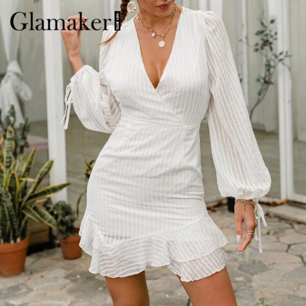Glamaker-Sexy-backless-white-mini-dress-Summer-transparent-ruffle-A-line-dress-Holiday-beach-lace-up-4.jpg