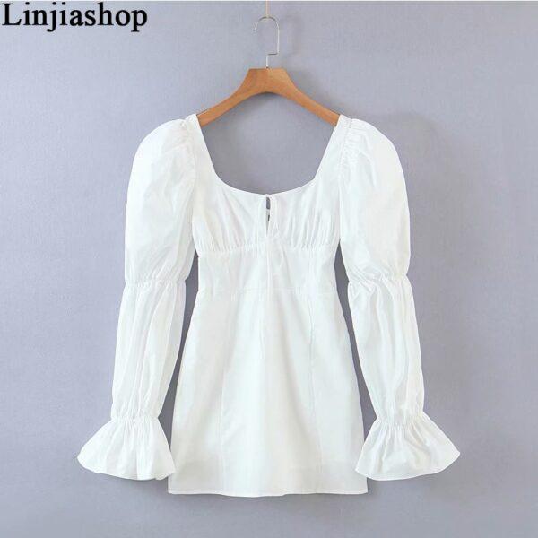 Spring-summer-women-mini-dress-cotton-long-flare-sleeves-slim-zipper-short-party-white-draped-dress-1.jpg