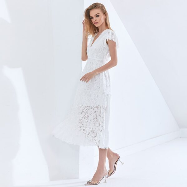 TWOTWINSTYLE-Hollow-Out-Elegant-Women-s-Dress-V-Neck-Short-Sleeve-High-Waist-Patchwork-Lace-White-5.jpg