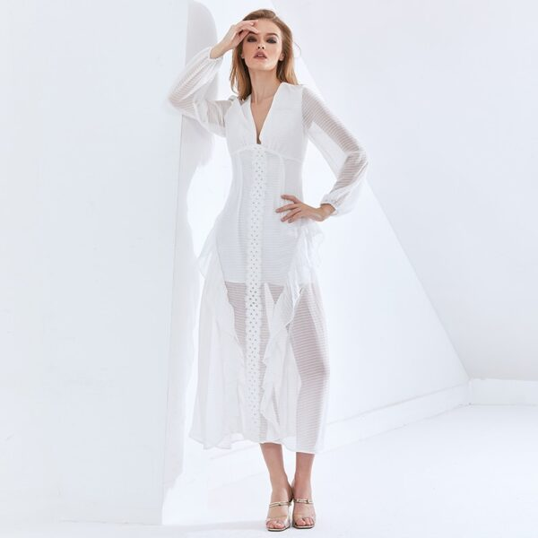 TWOTWINSTYLE-Sexy-Party-Perspective-Dress-For-Women-V-Neck-Long-Sleeve-High-Waist-Slim-Ruffle-White-2.jpg