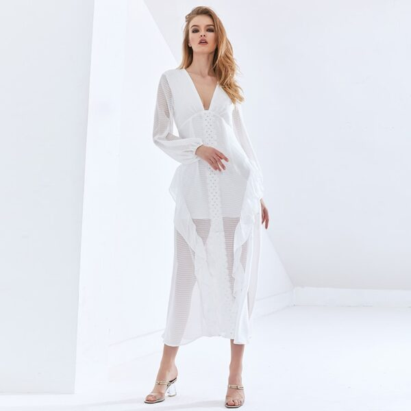 TWOTWINSTYLE-Sexy-Party-Perspective-Dress-For-Women-V-Neck-Long-Sleeve-High-Waist-Slim-Ruffle-White-3.jpg