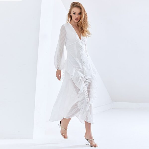 TWOTWINSTYLE-Sexy-Party-Perspective-Dress-For-Women-V-Neck-Long-Sleeve-High-Waist-Slim-Ruffle-White-4.jpg