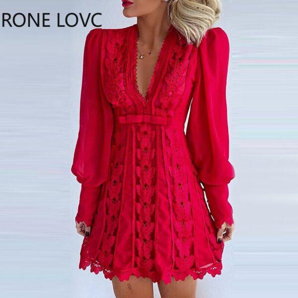 Women-Sheer-Mesh-Puff-Sleeve-Butterfly-Lace-Dress-Women-Dress-1.jpg