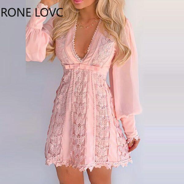 Women-Sheer-Mesh-Puff-Sleeve-Butterfly-Lace-Dress-Women-Dress-2.jpg