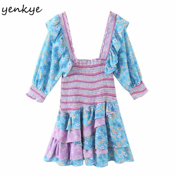 YENKYE-Romantic-Floral-Print-Layered-Ruffle-Dress-Women-Sexy-Square-Neck-Puff-Sleeve-Mini-Summer-Boho-1.jpg