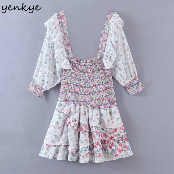 YENKYE-Romantic-Floral-Print-Layered-Ruffle-Dress-Women-Sexy-Square-Neck-Puff-Sleeve-Mini-Summer-Boho-2.jpg