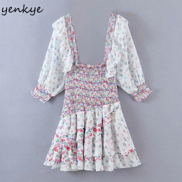 YENKYE-Romantic-Floral-Print-Layered-Ruffle-Dress-Women-Sexy-Square-Neck-Puff-Sleeve-Mini-Summer-Boho-3.jpg