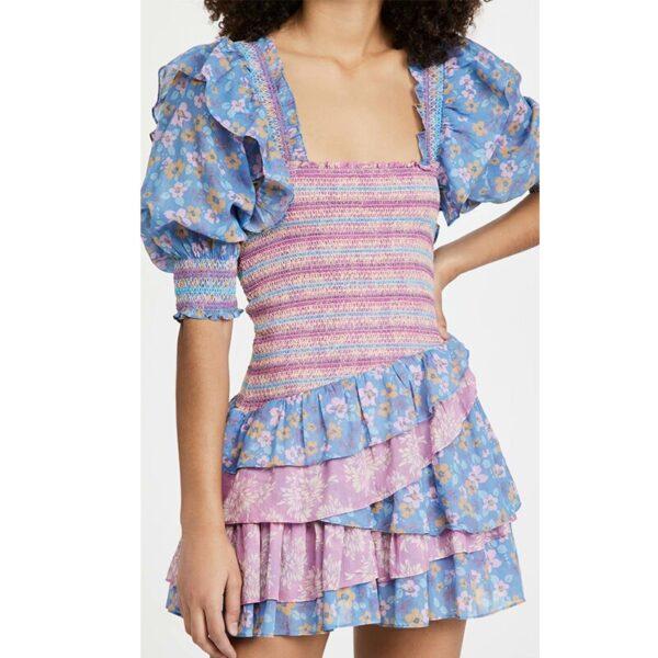 YENKYE-Romantic-Floral-Print-Layered-Ruffle-Dress-Women-Sexy-Square-Neck-Puff-Sleeve-Mini-Summer-Boho-5.jpg