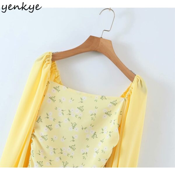 YENKYE-Romantic-Women-Sexy-Draped-Bodycon-Mini-Dress-Female-Yellow-Long-Sleeve-Square-Neck-Chiffon-Summer-2.jpg