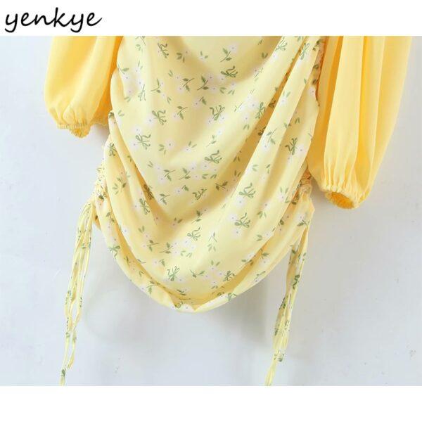 YENKYE-Romantic-Women-Sexy-Draped-Bodycon-Mini-Dress-Female-Yellow-Long-Sleeve-Square-Neck-Chiffon-Summer-3.jpg