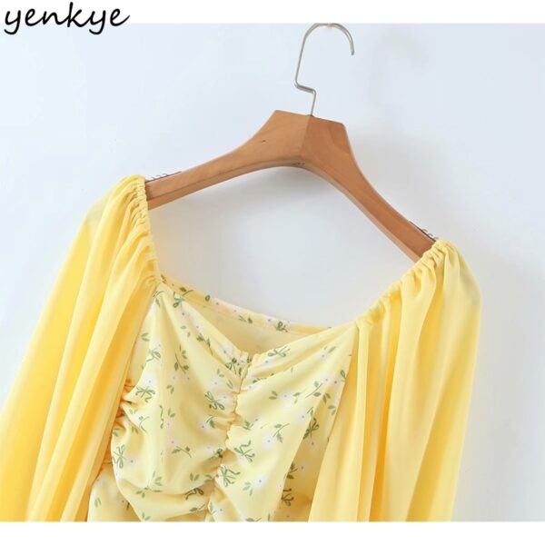 YENKYE-Romantic-Women-Sexy-Draped-Bodycon-Mini-Dress-Female-Yellow-Long-Sleeve-Square-Neck-Chiffon-Summer-4.jpg