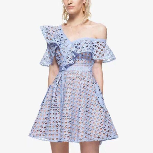 YiLin-Kay-High-end-Custom-Self-Portrait-2019-Women-Hollow-Out-One-Shoulder-Ruffles-Lace-Dress-1.jpg