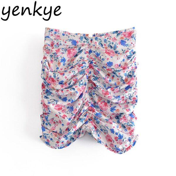 YENKYE-Sexy-Drawstring-Draped-Print-Floral-Skirt-Women-Back-Zipper-High-Waist-Mini-Jupe-Femme-Summer-1.jpg